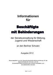 Informationen für Beschäftigte mit Behinderungen - GEW - Berlin