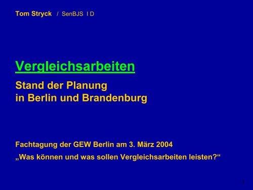 Referat Tom Stryck (pdf / 279 kb) - GEW - Berlin