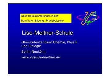 Lise-Meitner-Schule: Neue Herausforderungen in der ... - GEW - Berlin