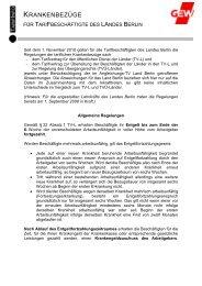Info Krankenbezuege (pdf / 141 KB) Stand: 30.10.2012 - GEW - Berlin