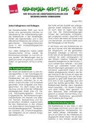Info: Gemeinsam geht`s los! (pdf  / 166 KB) - GEW - Berlin