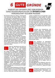 6 gute Gründe warum die offenen und gebundenen ... - GEW - Berlin