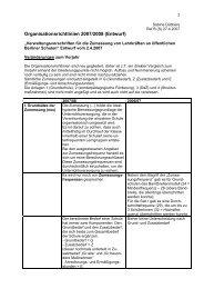 Organisationsrichtlinien 2007/2008 (Entwurf) - GEW - Berlin