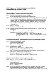 Zusammengefasste Ergebnisse der Arbeitsgruppen ... - GEW - Berlin