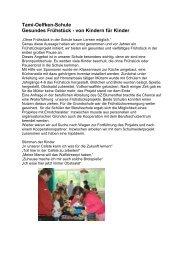 Tami-Oelfken-Schule Gesundes Frühstück - von Kindern für ... - GEW