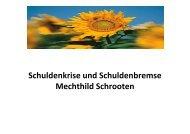 Schuldenkrise und Schuldenbremse Mechthild Schrooten - GEW