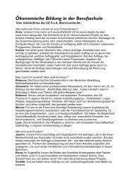 Ökonomische Bildung in der Berufsschule - GEW