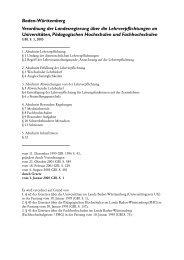 Lehrverpflichtungsverordnung Baden-Württemberg - Gewerkschaft ...