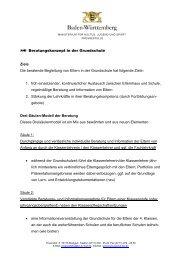 Beratungskonzept in der Grundschule Ziele Die beratende ...