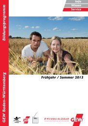 Frühjahr / Sommer 2013 - Gewerkschaft Erziehung und ...