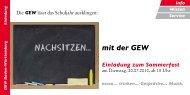 Einladung zum Sommerfest - Gewerkschaft Erziehung und ...