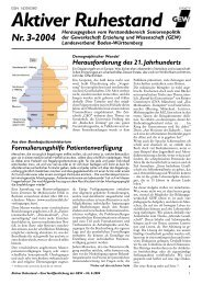 Aktiver Ruhestand - Gewerkschaft Erziehung und Wissenschaft ...