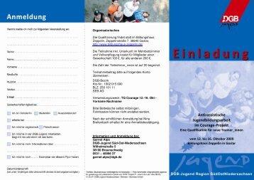 Seminarflyer - DGB Jugend Niedersachsen und Bremen