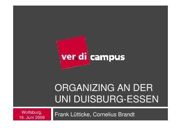 ver.di campus - organizing - DGB Jugend Niedersachsen und Bremen