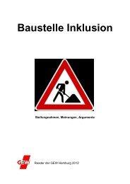 Baustelle Inklusion - Gewerkschaft Erziehung und Wissenschaft