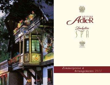 Zimmerpreise & Arrangements 2011 - Schwarzwald Hotel Adler