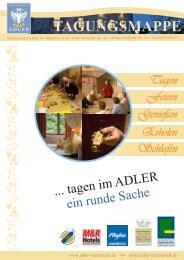 Tagungsmappe 2011 - Landhotel Adler