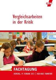 Vergleichsarbeiten in der Kritik - GEW Landesverband Hessen