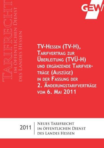 TV-H ua in Fassung des 2 ÄndTV Auszüge . in Fassung des 2 ...