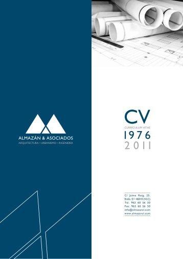 Descargue el CV - Estudio de Arquitectura Almazán & Asociados