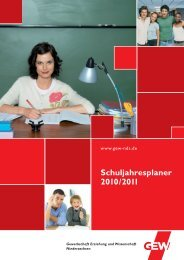 Schuljahresplaner 2010/2011 - GEW Niedersachsen