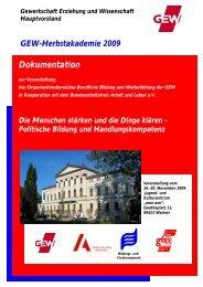 Dokumentation - Herbstakademie 2009 - GEW