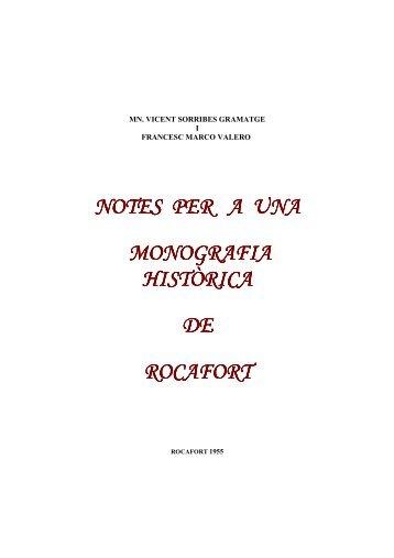 MONOGRAFIA HISTÒRICA DE ROCAFORT - Juan Perez Navarro