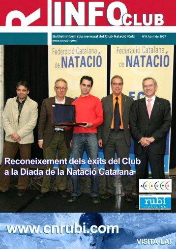 Revista InfoClub Nº 9 Abril 2007 - Club Natació Rubí