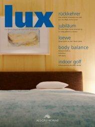 Lux - das Lifestyle Magazin (PDF) - Hotelmosaik