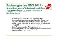 NBG Änderungen 2011 - Hannover 20. 6. 2012 - GEW Niedersachsen