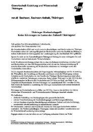 Thüringer Hochschulappell 2011 und die ... - GEW Thüringen
