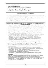 Prof. Dr. Ada Sasse Integrative Beschulung in ... - GEW Thüringen