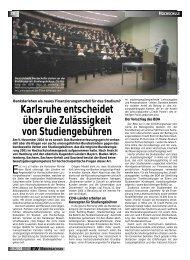 Karlsruhe entscheidet über die Zulässigkeit von Studiengebühren