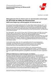 Pressemitteilung - GEW Niedersachsen