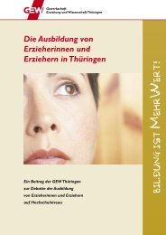 Die Ausbildung von Erzieherinnen und Erziehern ... - GEW Thüringen