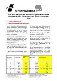 Tarifinfo-VHS-Oktober2009 Endfassung1 - GEW Thüringen