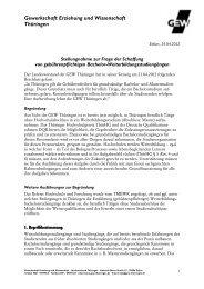 Gewerkschaft Erziehung und Wissenschaft ... - GEW Thüringen