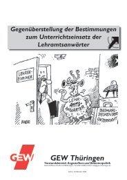 Gegenüberstellung der Bestimmungen zum ... - GEW Thüringen