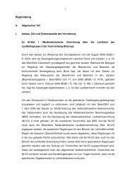 NLVO - Begründung - GEW Niedersachsen