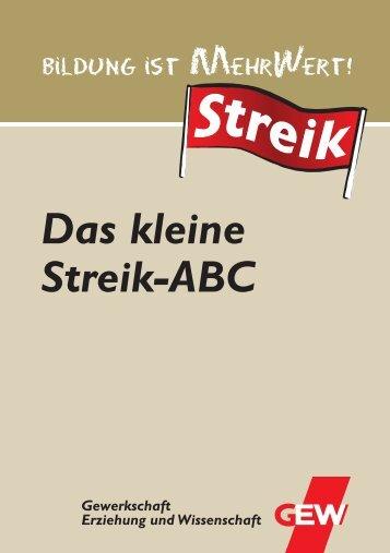 Das kleine Streik-ABC - GEW