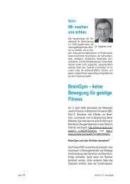 Heft-Artikel - Gesellschaft für Gehirntraining eV