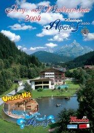 Berg- und Wandererlebnis 2004 – Walchhofers Alpenhof