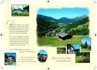 wird die Natur zum Erlebnis pur! Im Alpenhof ... - Hotel Alpenhof