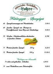 Frühlingszeit - Spargelzeit - Altdeutsches Kartoffelhaus Lohre
