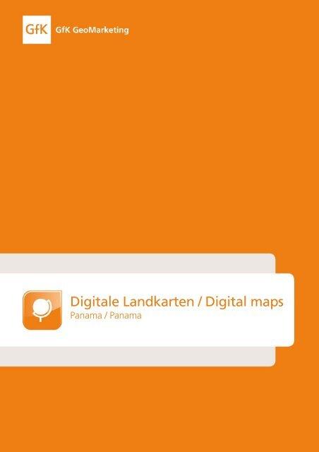 Digitale Landkarten / Digital maps - GfK GeoMarketing