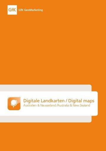 Digital vector maps for Australia & New Zealand - GfK GeoMarketing