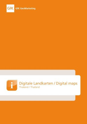 Digitale Landkarten / Digital m aps - GfK GeoMarketing
