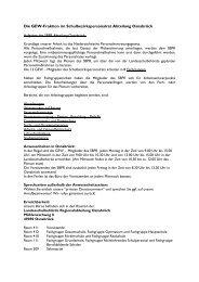 Liste der Ansprechpartner - GEW Bezirksverband Weser-Ems