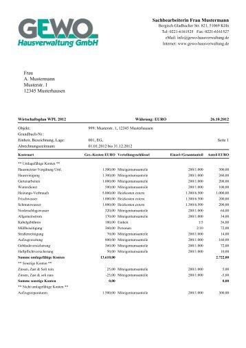 leistungskatalog weg - strothe hausverwaltung gmbh, Einladung