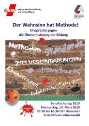 Einladung und Programm - GEW Niedersachsen